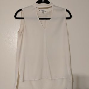 Derek Lam Crosby White Sleeveless Blouse